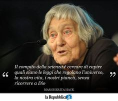 """12 giugno 1922 - Nasce a Firenze una delle menti più brillanti della comunità scientifica italiana Margherita Hack """""""