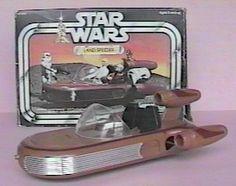 Kenner Star Wars toys Land Speeder (Sigh, my first Star Wars toy)