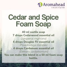 The aroma of this foam soap, using Cedarwood, Cardamom and Douglas Fir essential oils, might give you the feeling of sipping warm cider on a chilly evening.