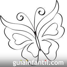 Imprime este dibujo de una bonita mariposa. Se trata de un dibujo fácil para colorear por lo que los niños estarán entretenidos mientras aprenden sobre los colores y hacen un trabajo de concentración.