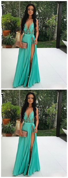 Elegant Prom Dresses, A-line V-neck See Through Lace Appliqued Sexy Long Prom Dresses Shop for La Femme prom dresses. Elegant long designer gowns, sexy cocktail dresses, short semi-formal dresses, and party dresses. Popular Dresses, Trendy Dresses, Sexy Dresses, Beautiful Dresses, Nice Dresses, Casual Dresses, Prom Dresses, Long Evening Dresses, Pageant Dresses For Teens