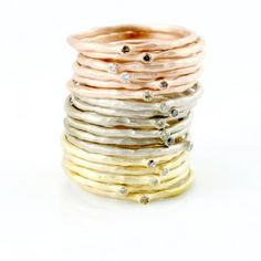 Artisan jewelry that is both delicate and striking, made by hand in Berkeley, California and Seattle, Washington. Artisan Jewelry, Handcrafted Jewelry, Handmade, American Crafts, All That Glitters, New Artists, Cool Watches, Gold Rings, Vintage Jewelry