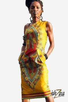 One Shoulder Pencil Dress with Pockets by JahzaraDesignStudio, $85.00