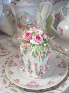 A lovely fake cake!! by Rhonda's Rose Cottage Designs online