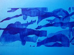 Expositie Spiegelbeeld | 9 januari t/m 13 februari 2016 | Kunstwerken van diverse jonge talentvolle grafici | Sarai de Haan - Zwemmers 1 |  www.baxkunst.nl | #baxkunst #expo #art #graphicart #contemporaryart #dutchartist #localart #gallery #Sneek #Holland