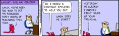 Have you heard of training man-days? Human Resources Humor, Scott Adams, Plus And Minus, Men's Day, Life Thoughts, Comic Strips, September, The Unit, Dilbert Comics