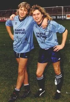 Joe Elliot and Rick Savage Soccer