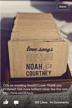 Musical Wedding Guest Favours