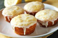 Fructose-Free Lemon Glazed Muffins
