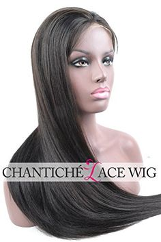Chantiche Silky Straight Human Hair Full Lace Wigs For Women 100% Indian Remy Human Hair Glueless Wig With Baby Hair 130 Density Medium Size Cap 18 inches