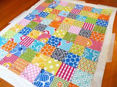double sided quilt with no binding..,.make 2 sides put batting in the middle than sew...sounds simple, if only I could sew (or had a sewing machine)