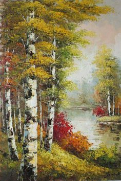 Fall nature photography trees 60 Ideas for 2019 Watercolor Landscape, Landscape Art, Landscape Paintings, Watercolor Paintings, Pictures To Paint, Art Pictures, Birch Tree Art, Scenery Paintings, Autumn Painting