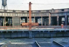 Frankfort Roundhouse, Sept. 1958 (Photo taken and contributed by Bill Fisher and is protected by copyright laws)