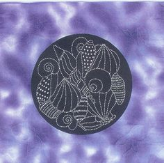 seashell sashiko design by Sylvia Pippen