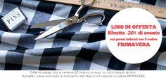 Offerta primavera: sconto del 20% su tutti i tessuti di lino