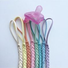 The Pastel Binky Clips and pacifier clips universal Binky clips