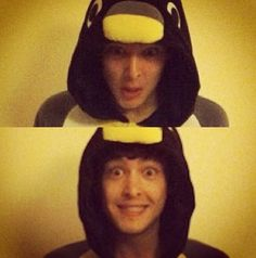 Mordred in a penguin suit! He actually showed us this. He and his friends and *gulp* girlfriend have one too.