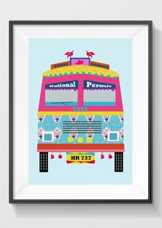 "The Great Indian Truck via Simidesign. Click on the image to see more!  10% off on Posters when using code ""SD 012415"""