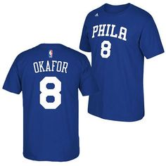 dc46fb3c25d Amazon.com : adidas Jahlil Okafor Philadelphia 76ers Blue Jersey Name and  Number T-Shirt Large : Sports & Outdoors