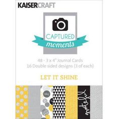 Captured Moments Double-Sided Cards, 6 inch x 4 inch, 30pk, Multicolor