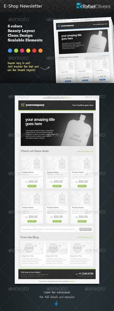 Fashion Ecommerce Email Newsletter Template Newsletter templates - email newsletter template