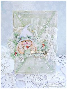 winter cute bunny Scrapberry's
