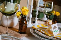 Simple yellow touches. #wedding #events #flowers #yellow #centerpiece