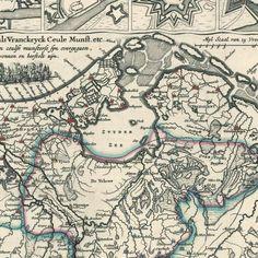 Afbeeldinge van alle de stercke steden die anno 1672 binnen de tydt van 2 maenden aen de France etc zyn overgegaen [en] d' 17 Neederlantse Proventie met de aengrensende landen als Vranckryck Ceule Munst. etc., anoniem, 1674 - Rijksmuseum