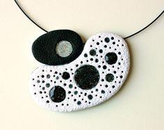 Trekkie Holes. Polymer clay pendant. by SilviaOrtizDeLaTorre
