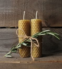 Hand-Rolled Beeswax Candles Set