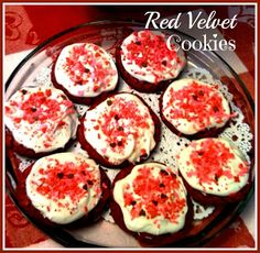 Sweet Tea and Cornbread: Easy Peasy Red Velvet Cookies with Cream Cheese Frosting!