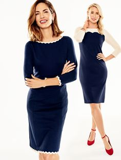 Dress the part! Our collection of dresses will take you from desk to dinner without missing a beat. Elevate the look with a pair of red heels!   Talbots