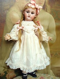 Sweet as a candy, lovely antique Simon Halbig bebe with flirty eyes. from les-fees-du-temps on Ruby Lane