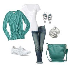 green weekend, created by fluffof5 on Polyvore