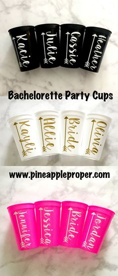 Bachelorette Party Cups | Personalized Stadium Cups, 22oz | Bride Tribe