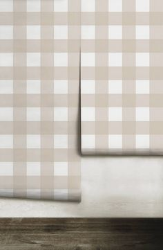 Small Buffalo Check inch) // Bisque Removable Peel 'n Stick or Traditional Wallpaper Shower Accent Tile, Shower Floor Tile, Stone Mantle, Austin Stone, Brick And Stone, Traditional Wallpaper, Pattern Names, Custom Wallpaper, Buffalo Check