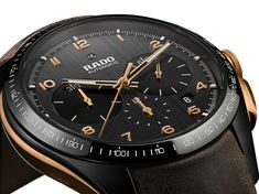 The new Rado HyperChrome Bronze Chronograph watch for Baselworld 2018 with images, price, background, specs, & our expert analysis. Fine Watches, Sport Watches, Watches For Men, Men's Watches, Wrist Watches, Amazing Watches, Bronze, Rado, Telling Time
