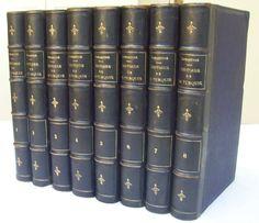 HISTOIRE DE LA TURQUIE / A. DE LAMARTINE / 8 Vol. RELIURE 1/2 CUIR 1855 E.O.