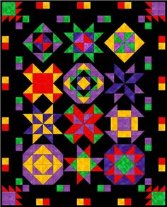 Planet Patchwork Block of the Month 2012-2013