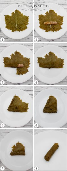 for all my friends who say - I DON'T KNOW HOW TO ROLL...here you go!!  Fun, crisp tutorial for rolling grape leaves