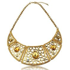 Gold Tone Smoky Necklace - Online Shopping for Necklaces by Shimarra
