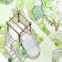 roundabout landscape plan drawings