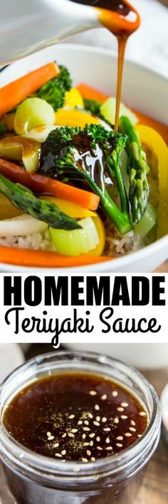 An easy homemade Teriyaki Sauce with sweet and spicy flavors and a thick, rich texture. You'll use this everywhere, not just in a stir-fry! via /culinaryhill/ Make Teriyaki Sauce, Spicy Sauce, Sauce Recipes, Cooking Recipes, Asian Recipes, Healthy Recipes, Homemade Sauce, Grilled Meat, Asian Cooking