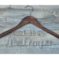 Custom wedding hanger two lines, custom wooden bridal wedding hanger,  personalized rustic wedding dress hanger,  personalized bridal gift