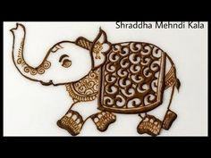 Simple Elephant Design In Bridal Mehndi Shapes By Henna Artist Shraddha Mehndi Designs Book, Peacock Mehndi Designs, Khafif Mehndi Design, Indian Mehndi Designs, Mehndi Designs For Fingers, Modern Mehndi Designs, Wedding Mehndi Designs, Mehndi Design Pictures, Latest Mehndi Designs