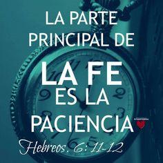 Hebreos 6:11-12 Pero deseamos que cada uno de vosotros muestre la misma solicitud hasta el fin, para plena certeza de la esperanza, a fin de que no os hagáis perezosos, sino imitadores de aquellos que por la fe y la paciencia heredan las promesas.♔