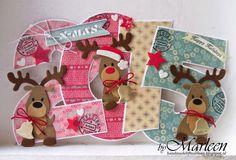 byMarleen; Happy Holidays, with reindeer