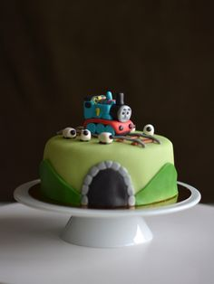 Thomas cake Thomas Cakes, Colors, Kitchen, Desserts, Food, Tailgate Desserts, Cooking, Deserts, Colour