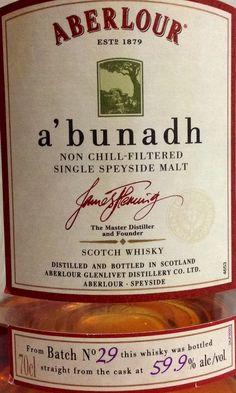 Aberlour a'bunadh 59.9% Batch No. 29