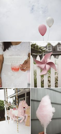 i like the pinwheels... gemma loves pinwheels and carousels... would be a cute pink, girlie theme